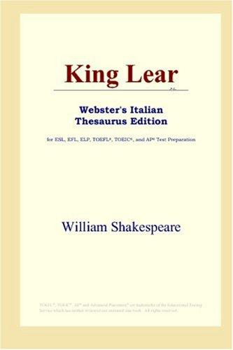 King Lear (Webster's Italian Thesaurus Edition)