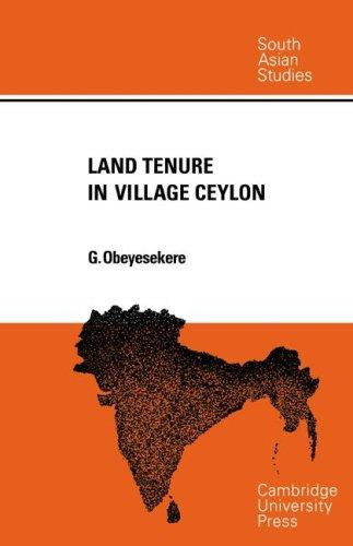 Land Tenure in Village Ceylon
