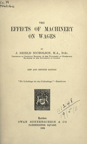 The effects of machinery on wages.
