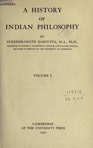 Download A history of Indian philosophy