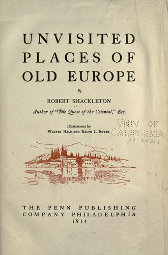 Download Unvisited places of old Europe