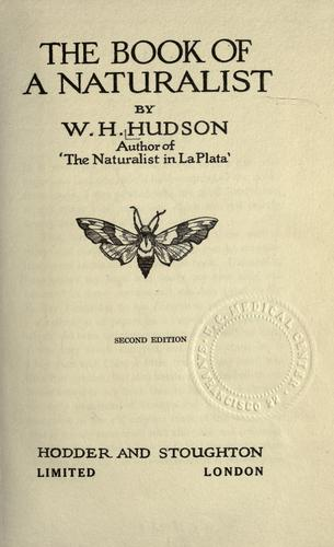 Download The book of a naturalist