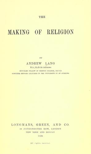 The making of religion.
