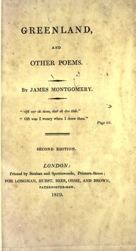 Download Greenland, and other poems