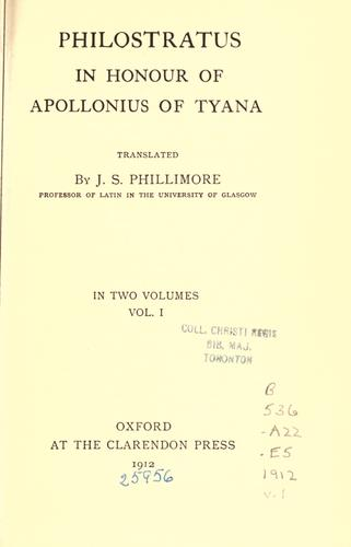 In honour of Apollonius of Tyana