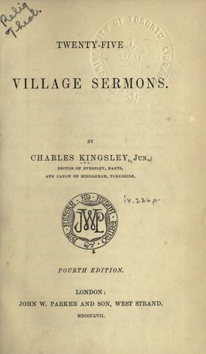 Download Twenty-five village sermons.