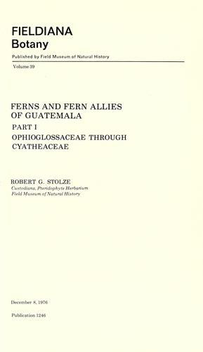Ferns and fern allies of Guatemala