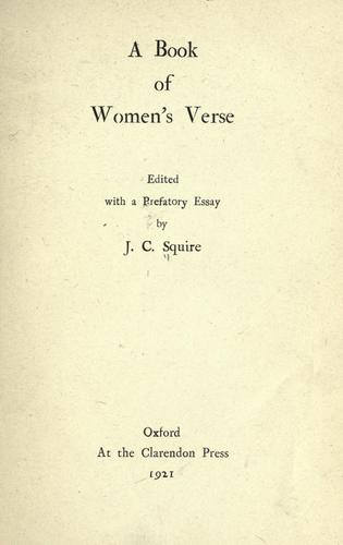 Download A book of women's verse