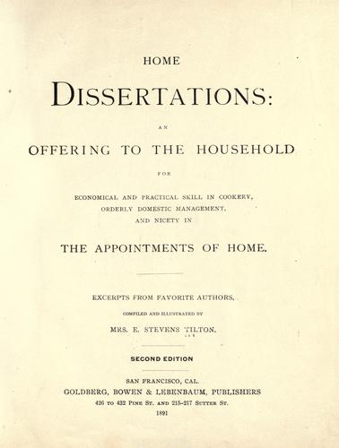 Download Home dissertations
