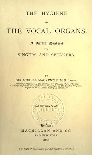 Download The hygiene of the vocal organs
