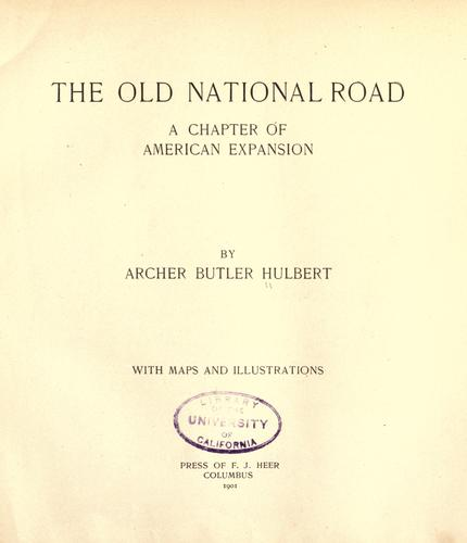 Download The old National Road