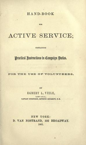 Download Hand-book for active service