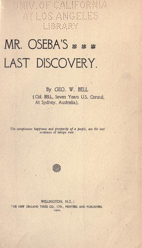 Download Mr. Oseba's last discovery.
