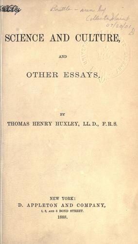 Download Science and culture, and other essays.