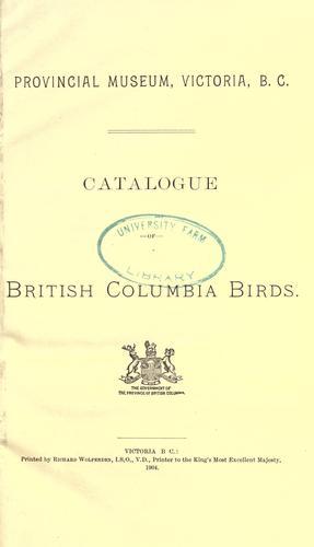 Download Catalogue of British Columbia birds.