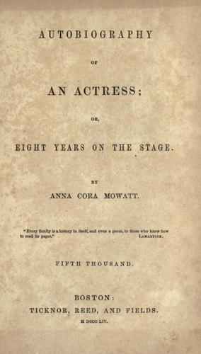 Autobiography of an actress