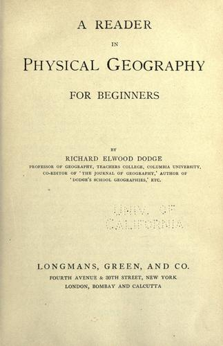 Download A reader in physical geography