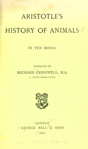 History of animals in ten books.