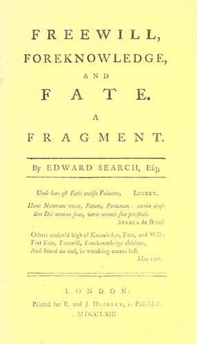 Freewill, foreknowledge, and fate