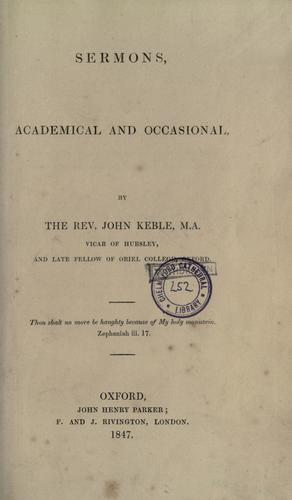 Download Sermons academical and occasional
