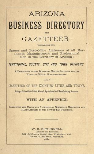 Arizona business directory and gazetteer by William C. Disturnell