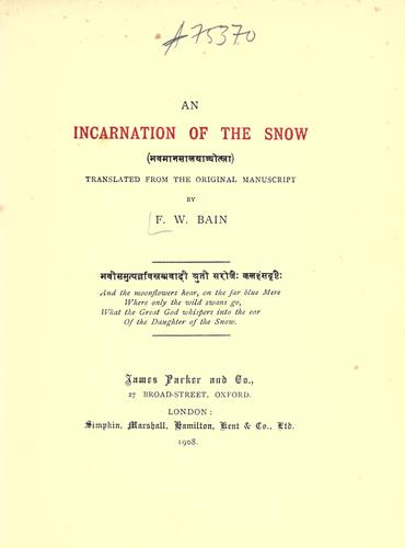 An incarnation of the snow