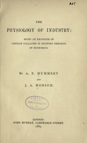 Download The physiology of industry
