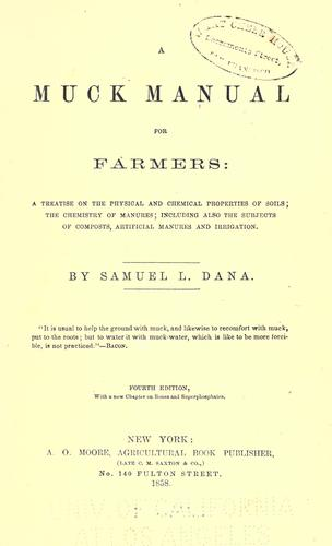 Download A muck manual for farmers