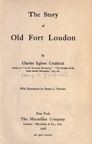 Download The story of old Fort Loudon