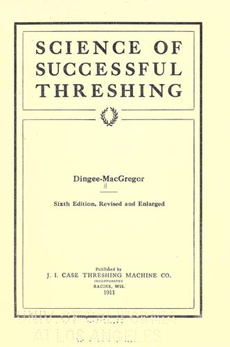 Science of successful threshing.
