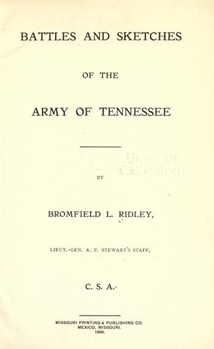Download Battles and sketches of the Army of Tennessee