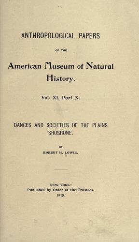 Download Dances and societies of the Plains Shoshone.