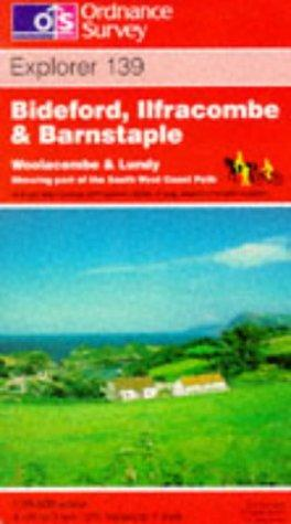 Bideford, Ilfracombe and Barnstaple (Explorer Maps)