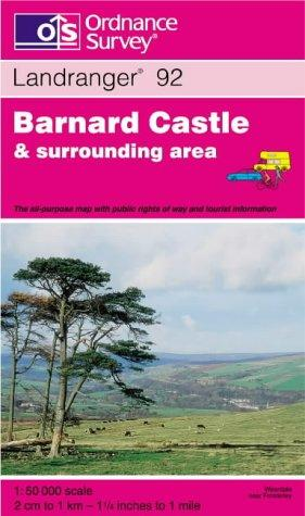 Barnard Castle and Surrounding Area (Landranger Maps)