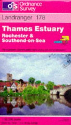 Thames Estuary – Rochester and Southend-on-Sea (Landranger Maps)