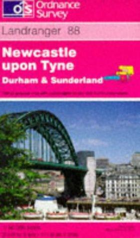 Newcastle Upon Tyne, Durham and Sunderland (Landranger Maps)