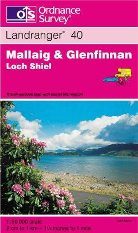 Mallaig and Glenfinnan, Loch Shiel (Landranger Maps)