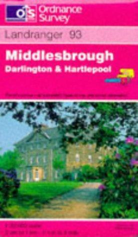 Middlesbrough, Darlington and Hartlepool (Landranger Maps)