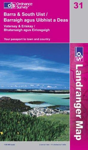 Download Barra and South Uist, Vatersay and Eriskay (Landranger Maps)