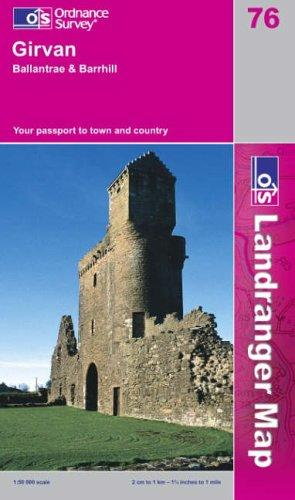 Girvan, Ballantrae and Barrhill (Landranger Maps)