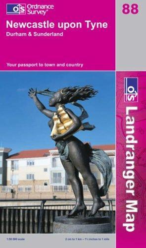 Download Newcastle Upon Tyne, Durham and Sunderland (Landranger Maps)