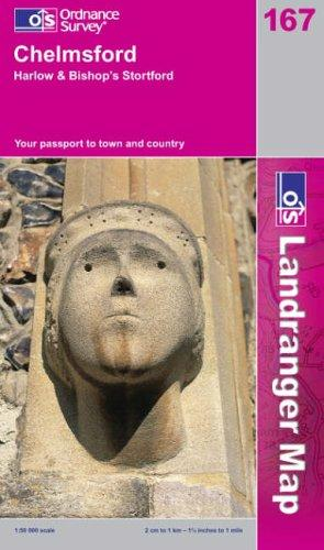 Download Chelmsford, Harlow and Bishop's Stortford (Landranger Maps)