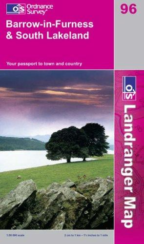 Barrow-in-Furness and South Lakeland (Landranger Maps)