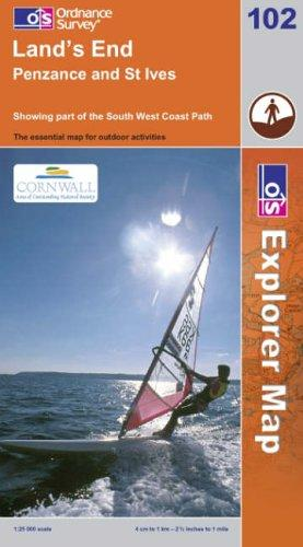Download Land's End, Penzance and St Ives (Explorer Maps)