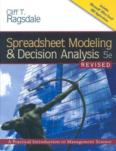 Download Spreadsheet Modeling & Decision Analysis