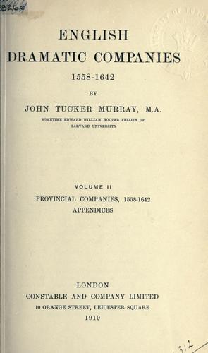 Download English dramatic companies 1558-1642.