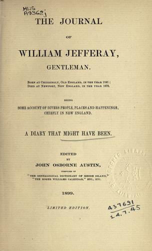 The journal of William Jefferay, Gentleman …
