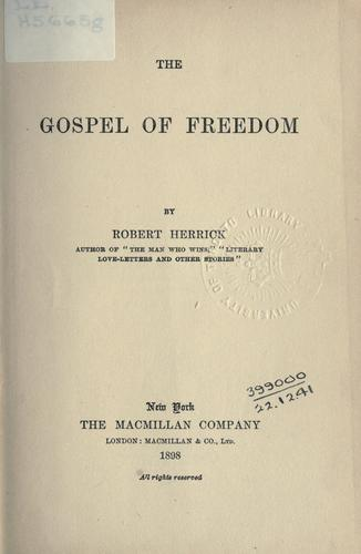 The gospel of freedom.