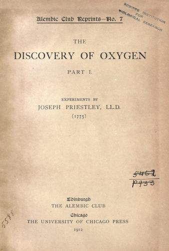 The discovery of oxygen.