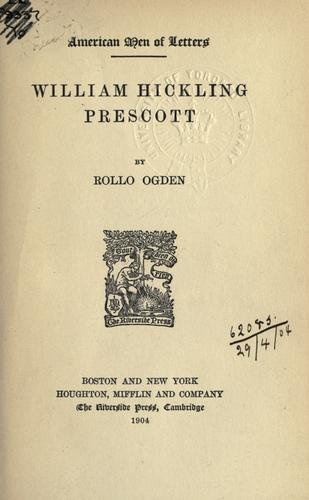 Download William Hickling Prescott.